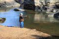 Dan Burgoyne fly fishing at Swallow Falls State Park - Garrett County, Maryland