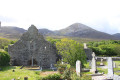 Murrisk Abbey with Croagh Patrick - the holy mountain - in the background