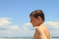 Connor at beach near Hatteras Pier - OBX