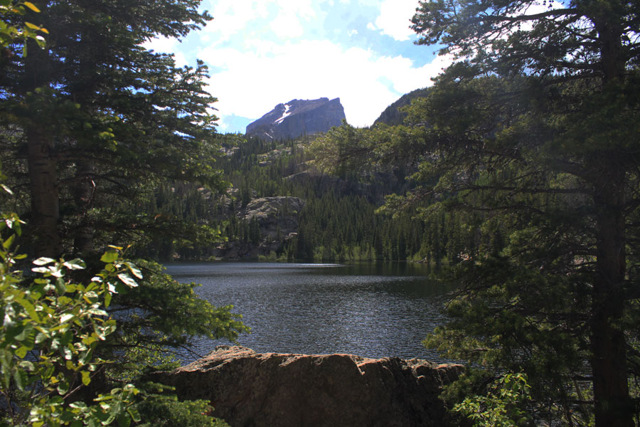 Hallett Peak over Bear Lake Colorado