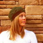 Woman's Beanie with Bow by Homemade Hippie