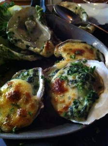 Oysters Rockefeller at Bills in Chincoteague