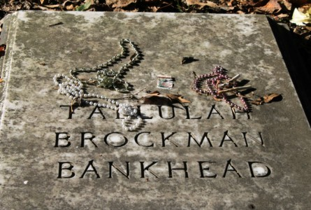 Tallulah Bankhead's grave at St. Paul's Church in Chestertown