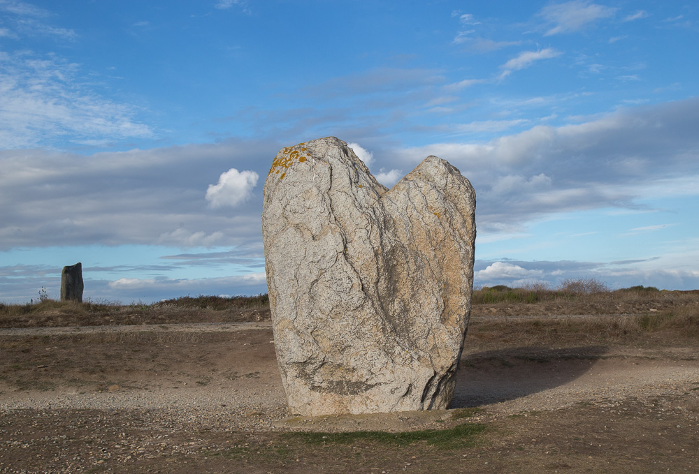 Brittany Menhir- Beg er Goalannec  - also known as the Bishop's Cap